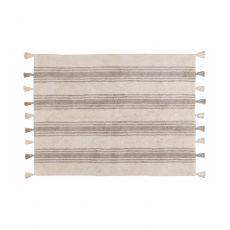 Glacier Grey Stripes Washable Rug