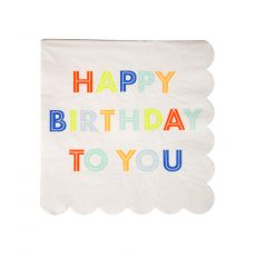 Tovagliolini Happy Birthday di Meri Meri :: acquista su Baby Bottega