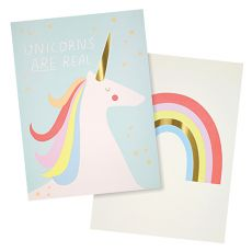 Rainbows & Unicorns Art Prints from Meri Meri