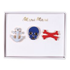 Pirate Enamel Pins :: Meri Meri