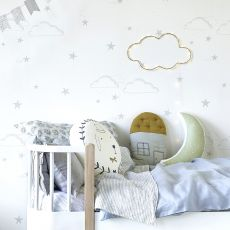 Starry Sky Wallpaper Silver/White