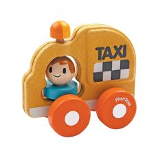 Taxi giocattolo eco-friendly di Plan Toys :: acquista su Baby Bottega