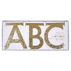 Gold Glitter Letter Garland from Meri Meri :: Baby Bottega