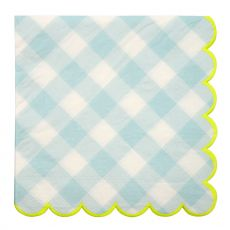 Blue Gingham Party Napkins, from Meri Meri