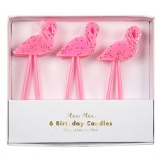 Flamingo party candle from Meri Meri