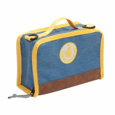 grey yellow lunch box lecons des choses baby bottega
