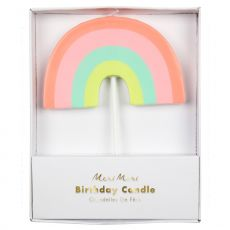 Rainbow party candle from Meri Meri