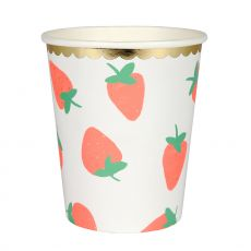 Strawberry decorated party cups from Meri Meri