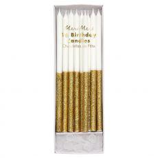 Candeline Oro Glitterate di Meri Meri :: acquista ora su Baby Bottega