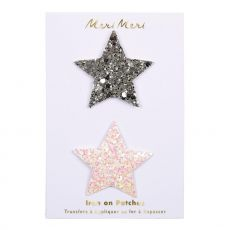 Glitter Stars Iron-on Patches from Meri Meri :: Baby Bottega