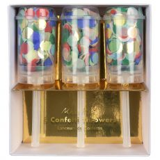 Rainbow Confetti Throwers from Meri Meri :: Baby Bottega