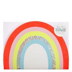 Album da disegno Arcobaleno con adesivi di Meri Meri :: acquista ora su Baby Bottega