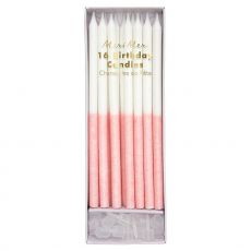 Pale Pink Glitter Dipped Candles from Meri Meri :: Baby Bottega