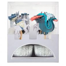 Dragon Knights Cupcake Kit di Meri Meri :: acquista ora su Baby Bottega
