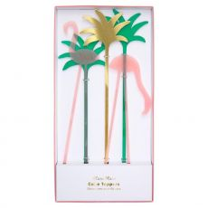 Flamingo Acrylic cake toppers from Meri Meri :: Baby Bottega