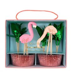 Flamingo cupcake kit from Meri Meri :: Baby Bottega