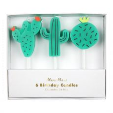 Cactus Candles Birthday Candles from Meri Meri :: Available at Baby Bottega