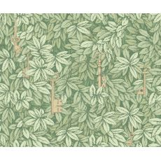 Chiavi Segrete, wallcovering in warm gold & sage :: Cole & Son