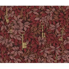 Chiavi Segrete, wallpaper in rouge red & bronze :: Cole & Son