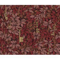 Chiavi Segrete, rivestimento murale in toni rossetto rosso e bronzo :: Cole & Son