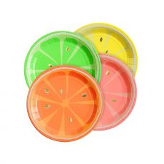 Neon Citrus Paper Plates from the Meri Meri Collection