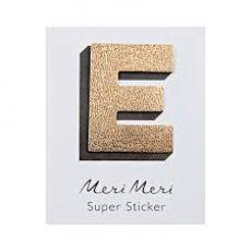 """Adesivo in pelle, la lettera """"E"""" di Meri Meri"""