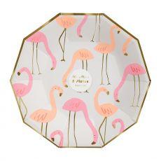 Flamingo, paper party plates :: Meri Meri
