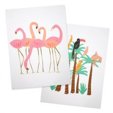 Flamingo Wall Art from Meri Meri