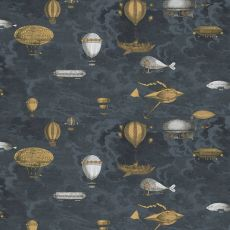 Macchine Volanti by Fornasetti, wallcovering (stone grey) :: Design Bottega