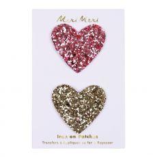 Iron On Glitter Hearts from the Meri Meri Collection