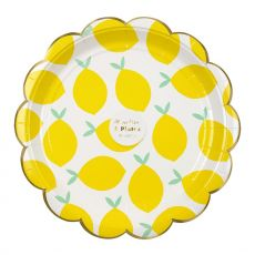 Lemon, Large Paper Party Plates :: Meri Meri