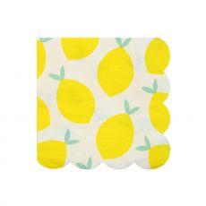 Lemon, paper party napkins :: Meri Meri