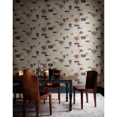 Macchine Volanti, wallcovering (stone grey) :: Cole & Son