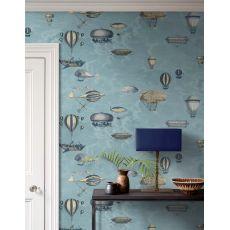 Macchine Volanti, wallcovering (slate blue) :: Cole & Son