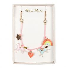 Unicorn Enamel Charm Necklace from Meri Meri :: Small Gifts from Baby Bottega