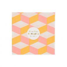 Blush Cubic, Small Party Napkins ::  Meri Meri