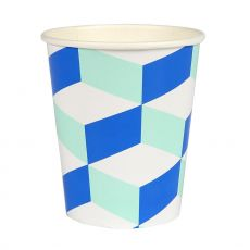 Aqua-Cubic Paper Cup a Design for Meri Meri