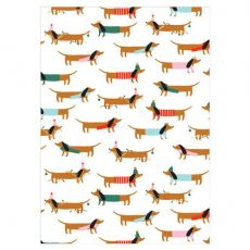 Sausage Dog Holiday Gift Wrap from Meri Meri