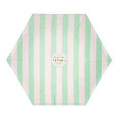 Mint Striped Party Plates from the Meri Meri Collection