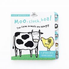 Moo, Cluck, Baa! is a press & listen book from Wee Gallery :: Design Bottega