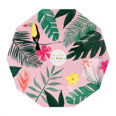 Pink Tropical, piatti di carta da Meri Meri