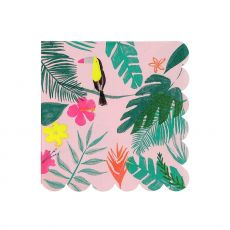 Pink Tropical,  tovaglioli da carta da Meri Meri