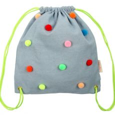 Chambray Pompom Backpack from Meri Meri :: Baby Bottega