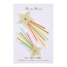 Shooting Stars Iron On Patches :: Meri Meri available at Baby Bottega