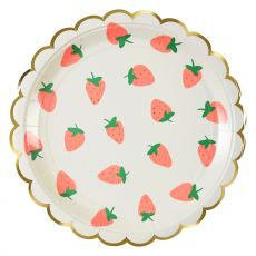 Strawberry Party Plate, from Meri Meri