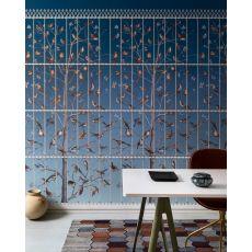 Uccelli, rivestimento murale decorativo, (blu) :: Cole & Son