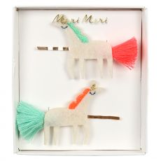 Unicorn With Tails Hair Slides from Meri Meri