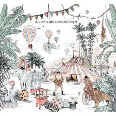 Cirque du Fantasy mural available online at Baby Bottega
