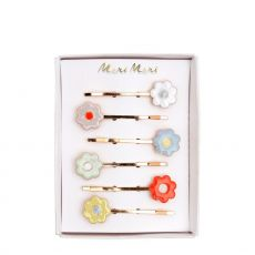 Daisy Enamel Hair Slides from Meri Meri :: Baby Bottega