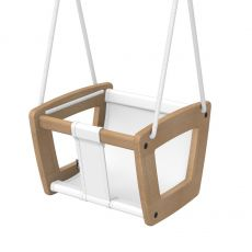 Lillagunga Toddler Swing in white :: Indoor Playground :: Baby Bottega